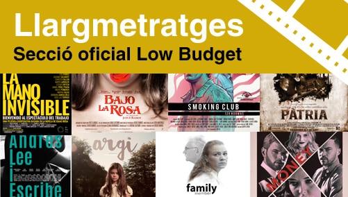 Llargmetratges seccio Oficial Low Budget Films 2017